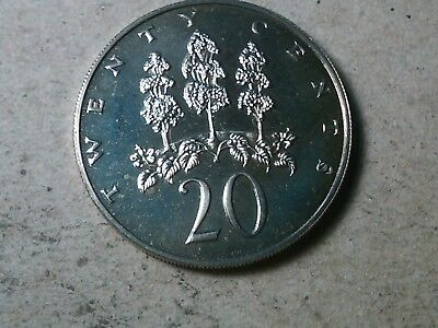 Jamaica 20 cents 1970 Forest. from proof set