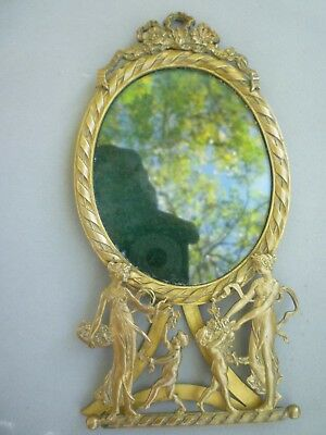 Antique French Ormolu Picture Frame Bronze Original 7 1/4 x 3 3/4 inches