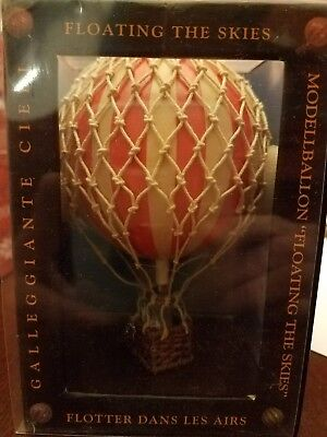 Hot Air Balloon Home Decor Authentic Models Floating the Skies Red