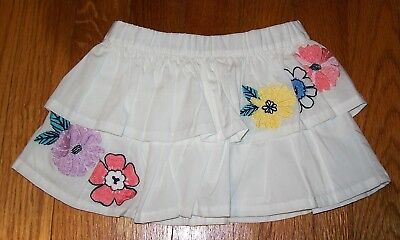 Nwot Gymboree Tropical Breeze 2016 White Layered Skirt Diaper Cover Sz 6-12Month