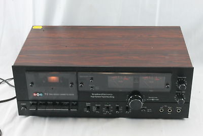 Vintage BIC T-2 Two Speed Wood Cabinet Stereo Cassette Deck