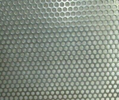 """20 Gauge 304 Stainless Steel Perforated Sheet 1/8"""" Holes--11"""" X 11"""""""
