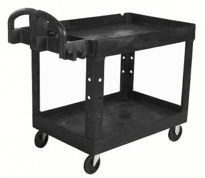 Rubbermaid Commercial Executive Series Heavy-Duty 2-Shelf Utility Cart with 500