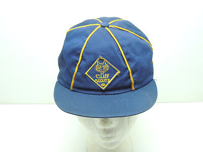 Vintage BSA Boy Scouts of America Cub Scouts Uniform Hat Cap size 6 3/4