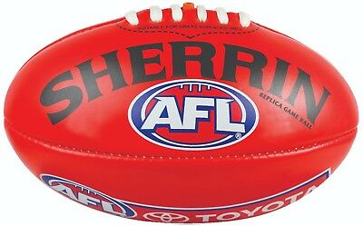 NEW Official Mini Sherrin 20cm PVC Replica Red AFL Football
