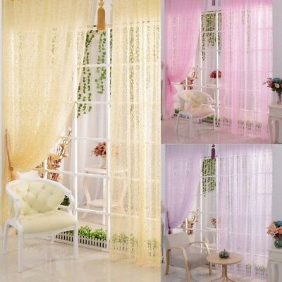 US Chic Home Room Voile Window Curtain Door Drape Panel Sheer Scarf Divider Home