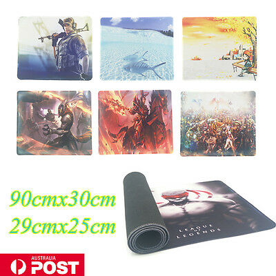New Gaming Large Mouse Pad PC Computer Laptop Desktop Keyboard Mat AU