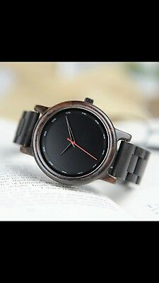 Limited edition Man luxury HIGH QUALITY Wooden quartz Watch In GIFT BOX by BOBO