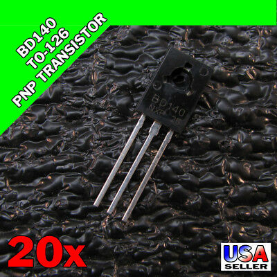 20x BD140 TO-126 Silicon PNP Transistor 80V 1.5A SOT-32 US SELLER 20pcs Y34