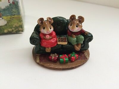 Wee Forest Folk M-134 FIRST DATE Christmas Limited Edition, Retired - MINT w/box