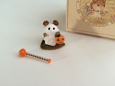 Wee Forest Folk M-62 LITTLE GHOST with Pumpkin Wand, RETIRED - MINT w/box