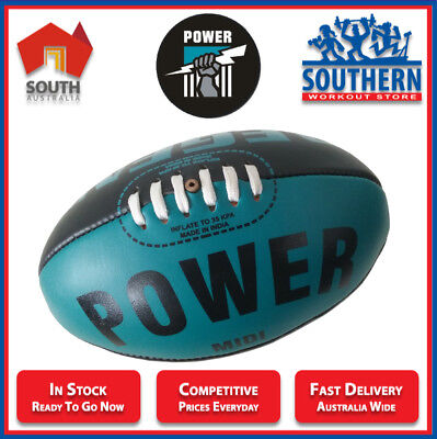 AFL Football Balls Port Power Regent MIDI Adelaide Aussie Rules NEW IN PACKAGING