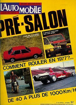 L'Automobile n°363 septembre 1976