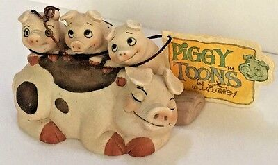 """Adorable Piggy Toons PIG Figurine by Jim Willoughby *GEORGE GOOD* 2"""" X 4"""""""