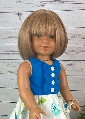 10-11 Custom Doll Wig fit Blythe-American Girl-1/4 Size Doll PEARL BISQUE bn7