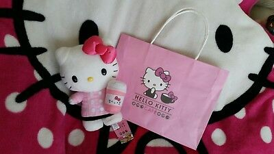 Hello Kitty Cafe Barista Plush & bag NWT Brand New Exclusive from California