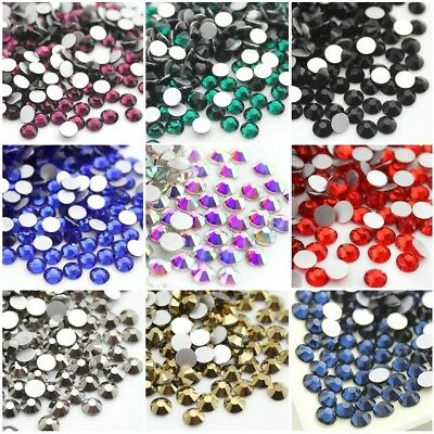 288 1440p Non-hotfix Crystal Flat Back Nail Art Rhinestones Glass Face Gems