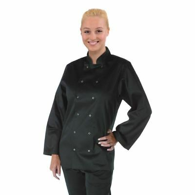 Whites Chefs Apparel Vegas Jacket Long Sleeve Black Coat Top Clothing