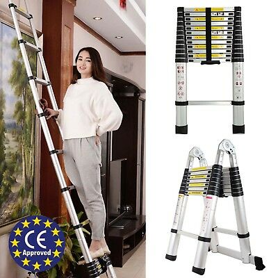 Telescopic Ladder Folding Alu Extendable Heavy Duty Multi Purpose Step 3m 16.5Ft