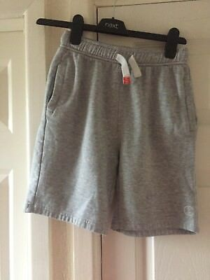Next Boys Sport Jogging Shorts Age 11 Light Grey