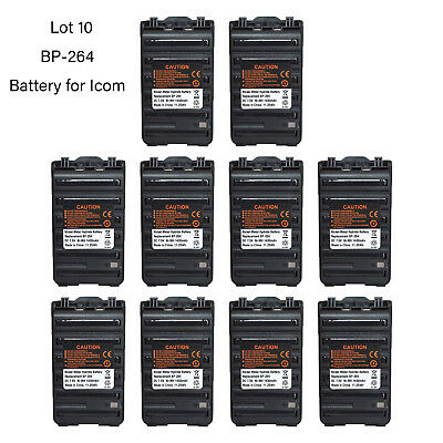 Lot 10 BP-264 Ni-MH Battery for ICOM IC-F3002 IC-F4002 IC-T70A Portable Radio