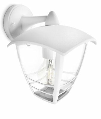 Philips MyGarden Creek Outdoor Wall Light White (Requires 1 x 60 Watts E27 Bulb)