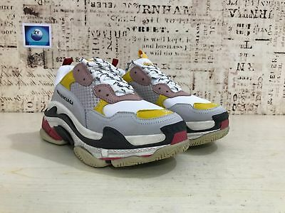 New Mens Shoes balenciaga triple s sneakers silver/yellow/red US5/6/6.5/7.5 POP