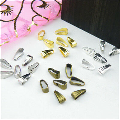 Chain/Necklace Connector Clip Bail 2.8x7mm,3.5x8.5mm,Silver,Gold,Bronze.R0145