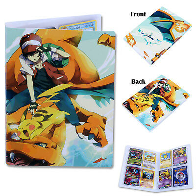 Folio Binder Album Folder Book Portfolio Hold 144 Cards For Pokemon Pikachu Fans