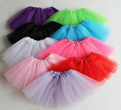 3 Layer Toddler Kids Girls Tutu skirt dress up Costume Party 3-9 year old