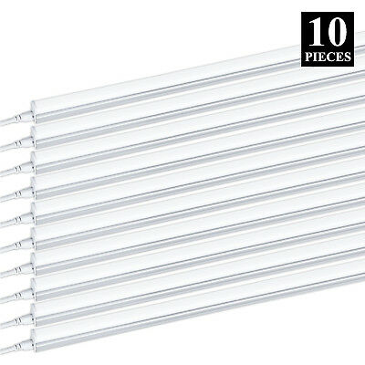 10 PACK T5 4FT Linkable LED Shop Light 6000K Daylight Fixture Utility Ceiling