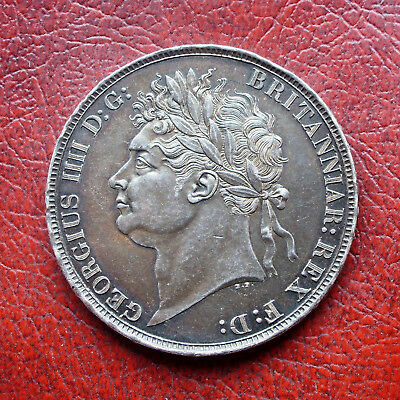 George IV 1821 secundo silver crown
