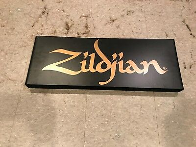 Zildjian Cymbal Sign 2-sided black gold drum drummer music advertising