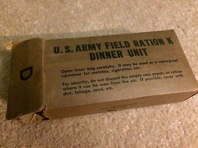 Vintage WWII 1942 Early K Ration Dinner Cracker Jack MFG