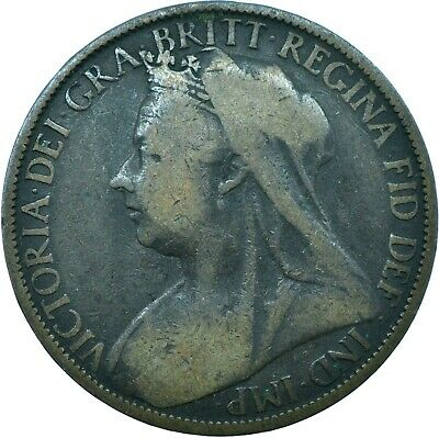 One Penny Of Queen Victoria /Veiled Head  Choose Your Date! - One Coin/Buy!