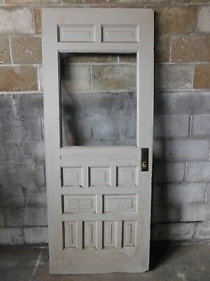 Antique Victorian Eastlake Style Entry Door - 1890 Fir Architectural Salvage