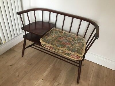 Ercol Style Vintage Telephone Table/chair