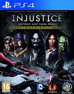 Injustice Gods Among Us Ultimate Edition - PS4 neuf sous blister VF