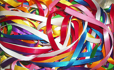 """10 metres 10 x 1 m Assorted Colours of 3//8/"""" 10mm wide Grosgrain Ribbon Off Cut"""