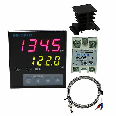 Inkbird F Display PID Temperature Controllers Thermostat ITC-106VH, K Sensor, He