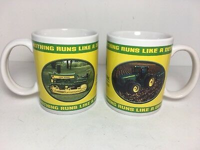 2 John Deere Coffee Mug Cup Collectible Stein 2004 Collector Series Tractor