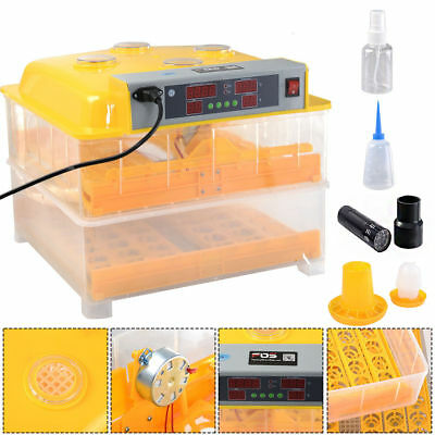 #96 Digital Egg Incubator Hatcher Temperature Control Automatic Turning Chicken
