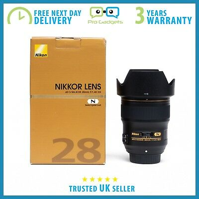 New Nikon AF-S NIKKOR 28mm f/1.4E ED Lens - 3 Year Warranty