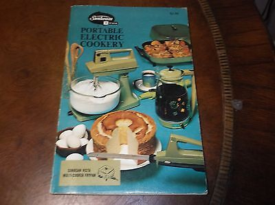Sunbeam Portable Electric Cookery Vintage PB 1970 Recipes Illustrated