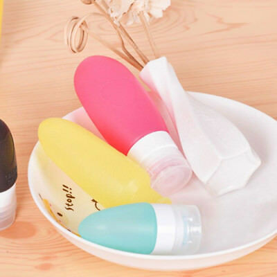 Silicone Travel Bottle Shampoo Liquid Cosmetic Portable Empty Container New