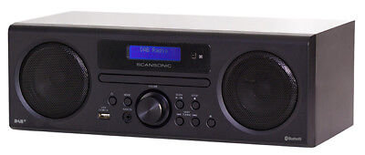 Scansonic DA310 DAB+/FM Radio, Bluetooth, CD-Player schwarz