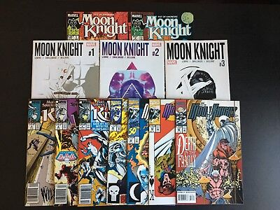 Marvel: Lot of 12 Moon Knight 2016 1-3, Marc Spector, Fist of Khonshu 1-2 Nice!