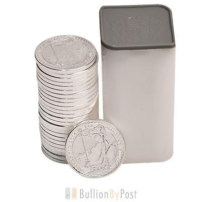 Full Tube 25 x 1oz Silver Britannias