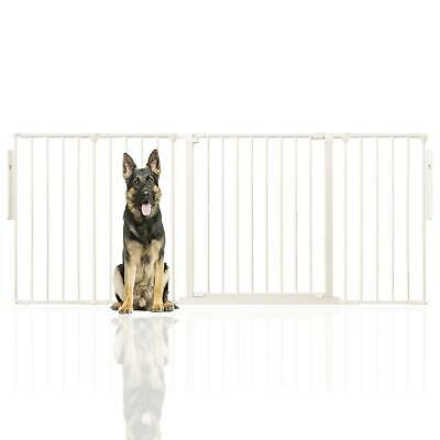 Safetots Premium Flexible Extra Wide Dog Gate Room Divider Puppy Barrier WHITE