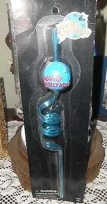 PLANET HOLLYWOOD Drinking STRAW New Sealed Old Stock Collectible Hard Plastic